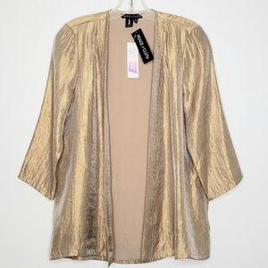 Peace Of Cloth Metallic Gold Cardigan Jacket NWT